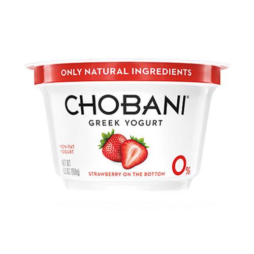 CHOBANI GREEK YOGURT NON FAT 0% STRAWBERRY 5.3oz