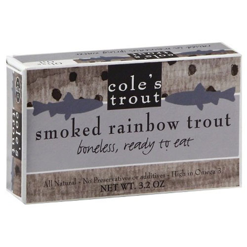 COLES SMOKED RAINBOW TROUT 3.2oz