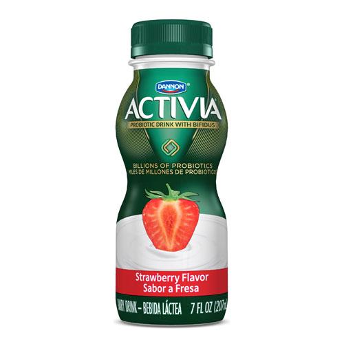 DANNON ACTIVIA PROBIOTIC DRINK STRAWBERRY 7oz
