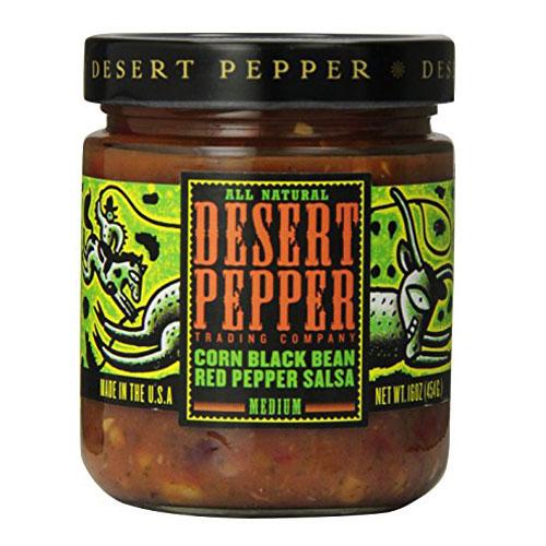DESERT PEPPER SALSA CORN BLACK BEAN RED PEPPER MEDIUM 16oz