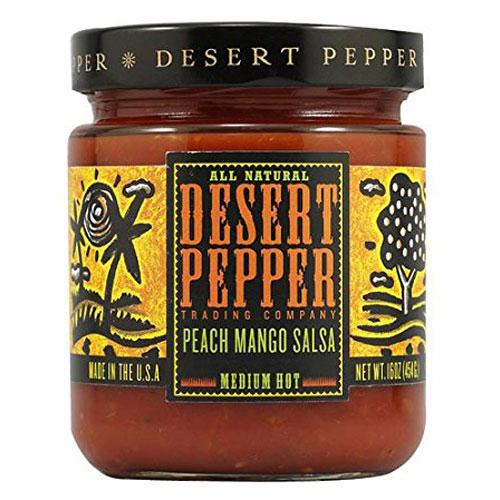 DESERT PEPPER PEACH MANGO SALSA MEDIUM 16oz