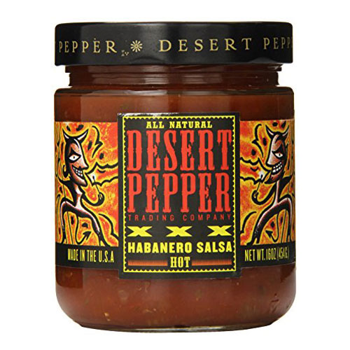 DESERT PEPPER XXX HABANERO SALSA HOT 16oz