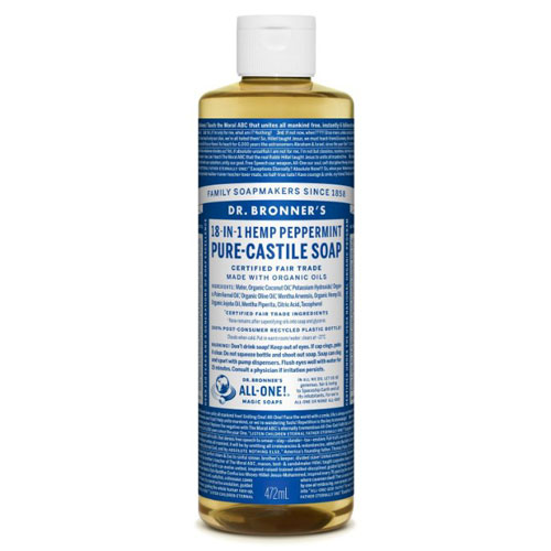 DR BRONNERS MAGIC SOAP PEPERMINT 16oz