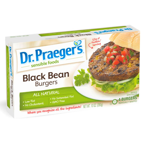 DR PRAEGERS BURGERS BLACK BEAN 10oz