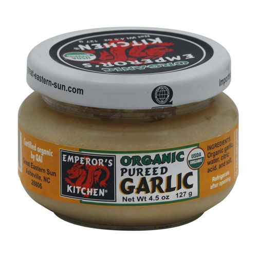 EMPERORS KITCHEN ORGANIC PUREED GARLIC 4.5oz