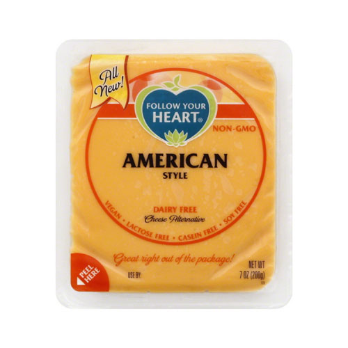 FOLLOW YOUR HEART VEGAN CHEESE SLICES AMERICAN 7oz