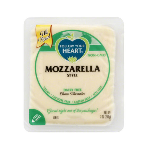 FOLLOW YOUR HEART VEGAN CHEESE SLICES MOZZARELLA 7oz