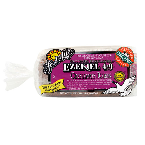 FOOD FOR LIFE EZEKIEL 4:9 CINNAMON RAISIN BREAD 24oz