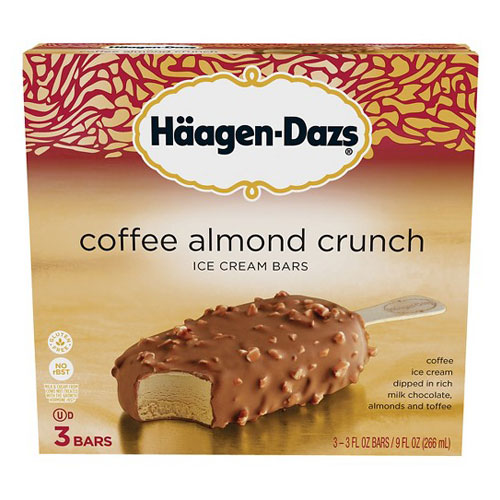 HAAGENDAZS COFFEE ALMOND CRUNCH 3 BARS