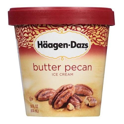 HAAGENDAZS ICE CREAM  BUTTER PEACAN 14oz