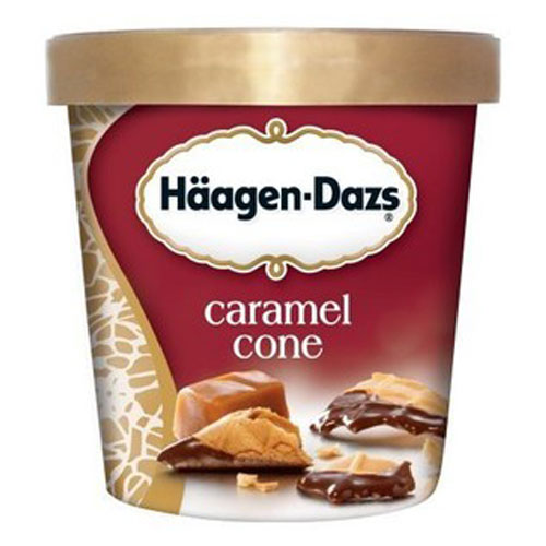 HAAGENDAZS ICE CREAM CARAMEL CONE 14oz