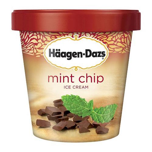HAAGENDAZS ICE CREAM MINT CHIP 14oz