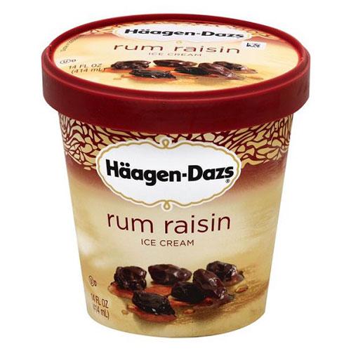 HAAGENDAZS ICE CREAM RUM RAISIN 14oz