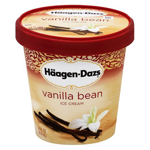 HAAGENDAZS ICE CREAM VANILLA BEAN 14oz