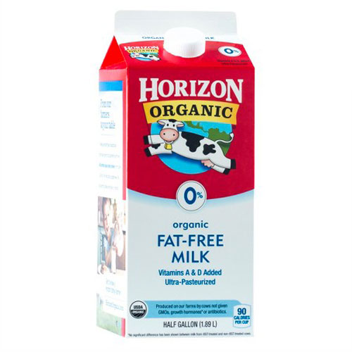 HORIZON ORGANIC MILK FAT FREE 64oz