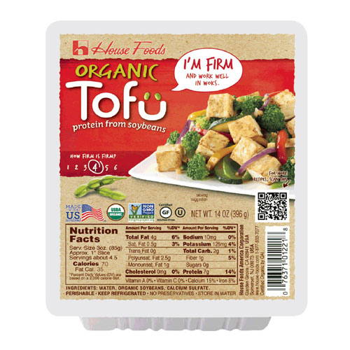 HOUSE FOODS ORGANIC TOFU FIRM 14oz