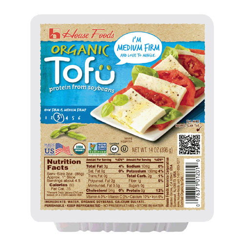 HOUSE FOODS ORGANIC TOFU MEDIUM FIRM 14oz