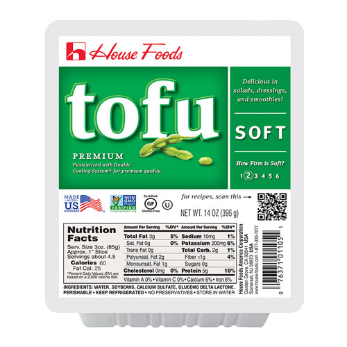 HOUSE FOODS ORGANIC TOFU SOFT 14oz