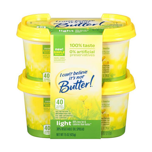 I CANT BELIEVE ITS NOT BUTTER LIGHT 15oz 2pk