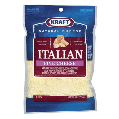 KRAFT SHREDDED ITALIAN FIVE CHEESE 8oz