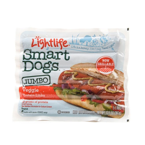 LIGHT LIFE VEGAN VEGGIE PROTEIN DOGS JUMBO VEGGIE 13.5oz