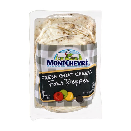 MONTCHEVRE GOAT CHEESE FOUR PEPPER 4oz