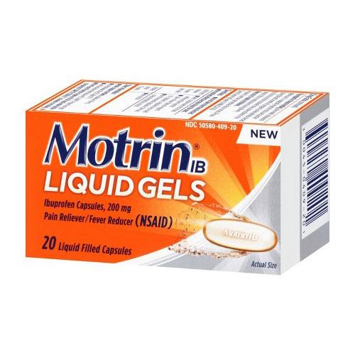MOTRIN IBUPROFEN 20liquid capsules