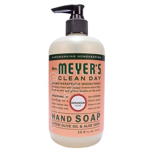 MRS MEYERS HAND SOAP GERANIUM 12.5oz