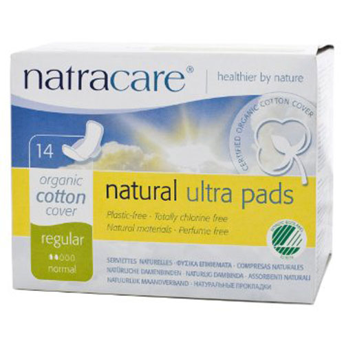 NATRACARE NATURAL PADS REGULAR 14pk