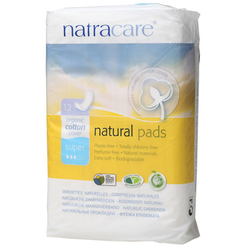 NATRACARE NATURAL PADS SUPER 12pk