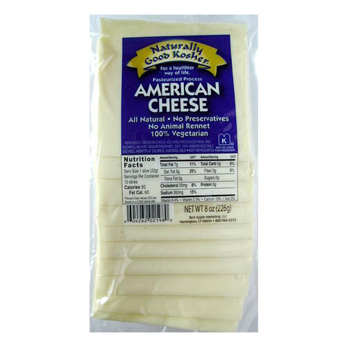 NATURALLY GOOD KOSHER SLICED AMERICAN CHEESE 8oz