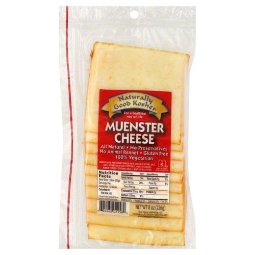 NATURALLY GOOD KOSHER SLICED MUENSTER CHEESE 8oz