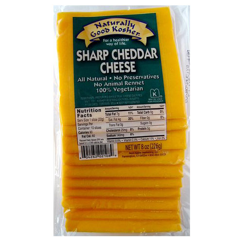 NATURALLY GOOD KOSHER SLICED SHARP CHEDDAR 8oz
