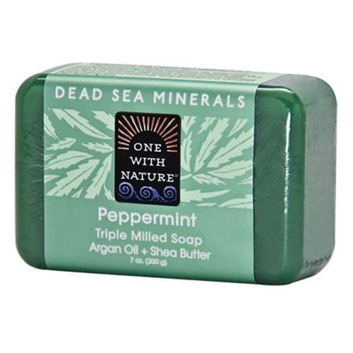 ONE WITH NATURE SOAP PEPPERMINT 7oz