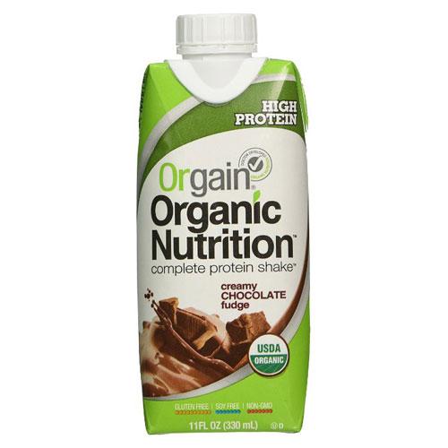 ORGAIN ORGANIC NUTRITION DRINK CREAMY CHOCOLATE FUDGE 11oz