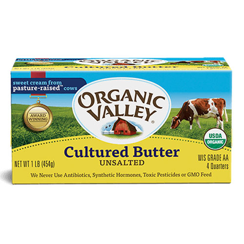 ORGANIC VALLEY CULTURED BUTTER 1lbs