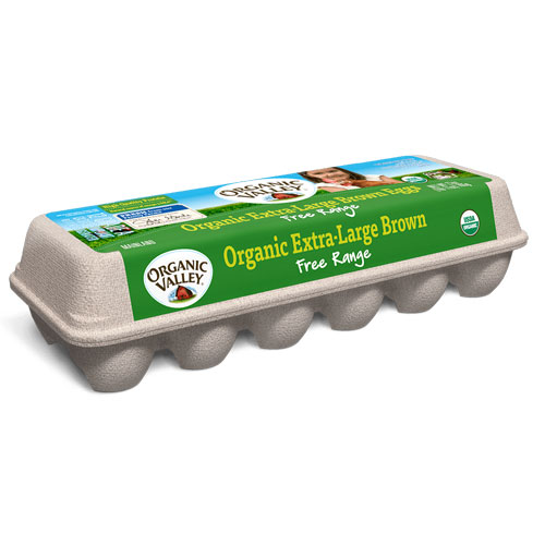 ORGANIC VALLEY EXTRA LARGE BROWN EGGS 27oz