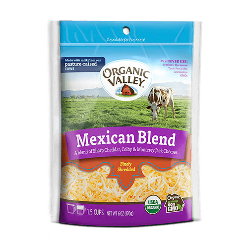 ORGANIC VALLEY SHREDDED CHEESE MEXICAN BLEND 6oz