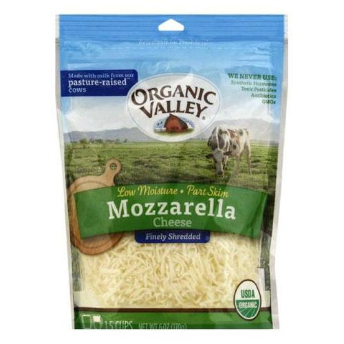 ORGANIC VALLEY SHREDDED CHEESE MOZZARELLA 6oz