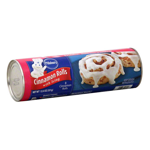 PILLSBURY CINNAMON ROLLS WITH ICING 12.4oz