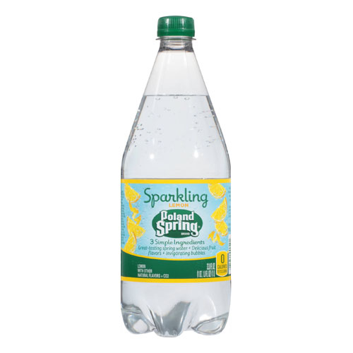 POLAND SPRING SPARKLING WATER LEMON 33.8oz