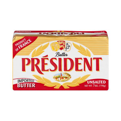 PRESIDENT  BUTTER UNSALTED 7oz