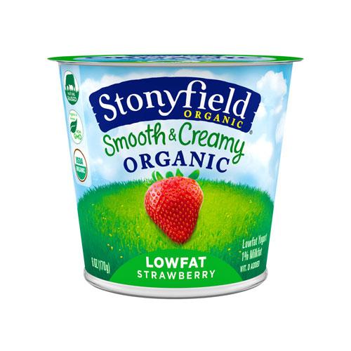 STONYFIELD YOGURT ORGANIC LOW FAT STRAWBERRY 6oz