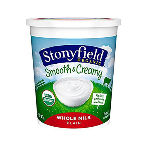 STONYFIELD YOGURT ORGANIC WHOLE MILK PLAIN 32oz