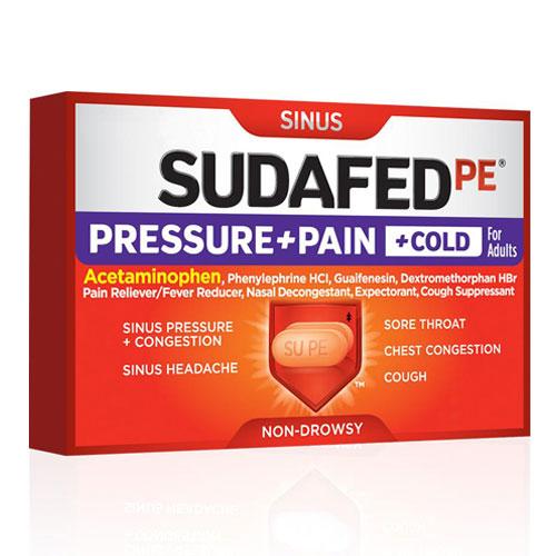 SUDAFED SINUS PRESSURE + PAIN + COLD  24caplets