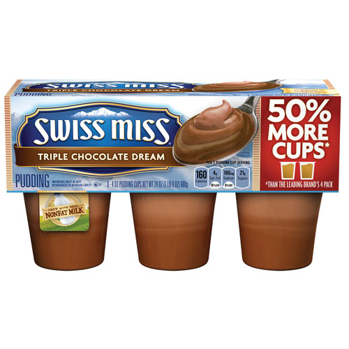 SWISS MISS PUDDING CREAMY MILK CHOCOLATE 24oz