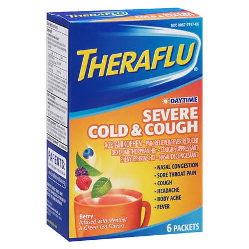 THERAFLU SEVERE COLD & COUGH DAYTIME BERRY FLAVOR 6pks