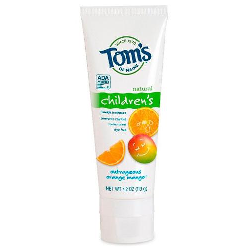 TOMS TOOTHPASTE CHILDREN'S OUTRAGEOUS ORANGE MANGO 4.2oz