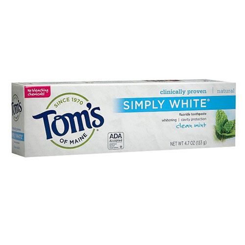 TOMS TOOTHPASTE SIMPLY WHITE CLEAN MINT 4.7oz
