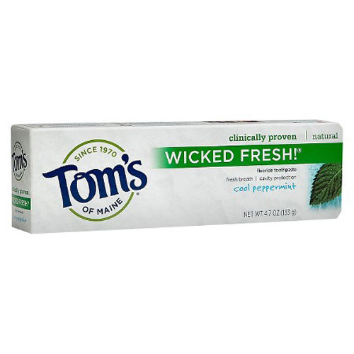 TOMS TOOTHPASTE WICKED FRESH COOL PEPPERMINT 4.7oz